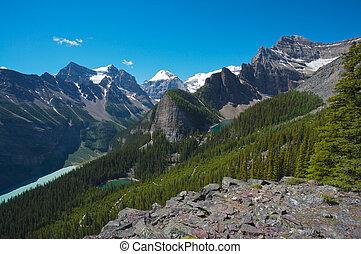 kanada, louise, jezioro, powierzchnia