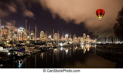 kanada, miasto, bc, port, vancouver, noc