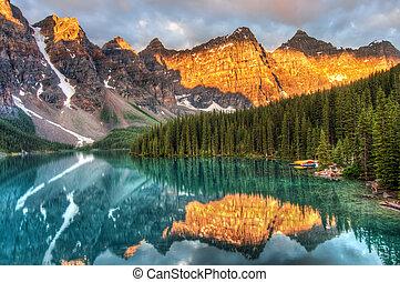 kanada, morena jezioro