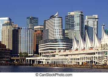 kanada, vancouver, miejsce, molo