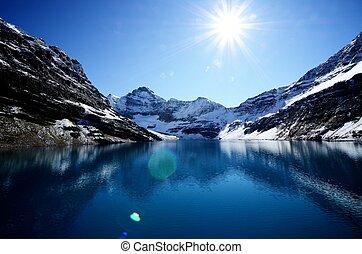 kanadyjczyk, jezioro, mcarthur, kanada, rockies