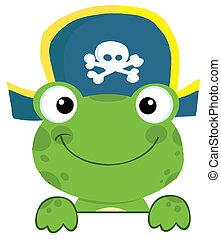 kapelusz, żaba, pirat