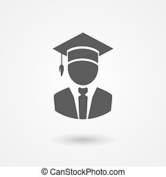 kapelusz, mortarboard, profesor, albo, absolwent