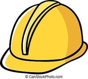 kapelusz, zbudowanie, pracownik