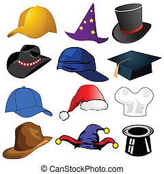 kapelusze, różny