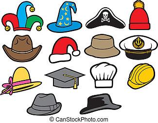 kapelusze, zbiór