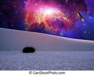 kaprys, biały piach, krajobraz