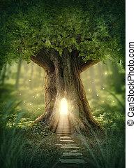 kaprys, dom, drzewo