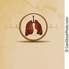 kardiogram, płuca