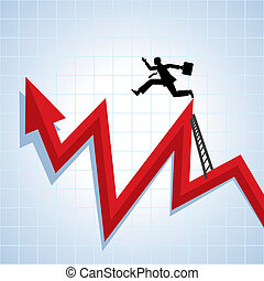 kariera, postęp, wzrost, ve, handlowy