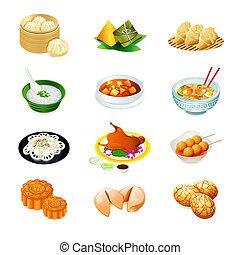 karmowy chińczyk, ikony