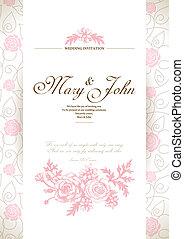 karta, zaproszenie, ślub