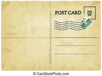 kartka pocztowa, stary