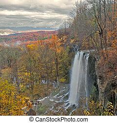 kaskada, wodospad, góry., beauiful