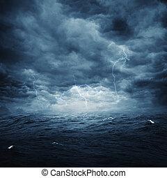 kasownik, burzowy, abstrakcyjny, tła, projektować, ocean, twój