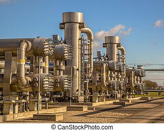 kasownik, poddawanie procesowi, umiejscawiać, gaz