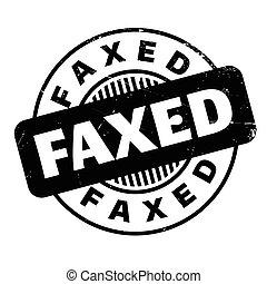 kauczukowa pieczęć, faxed