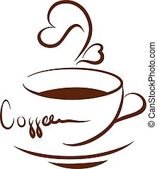 kawa, ilustracja