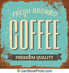 kawa, metal znaczą