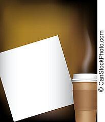 kawa, notatnik, filiżanka