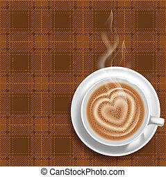 kawa, tło