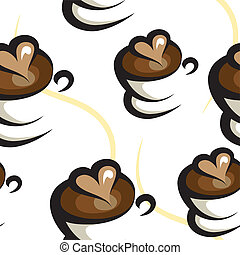 kawa, tło, seamless