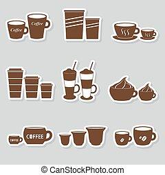 kawa wystawiają, frajerzy, sortuje, zmiany, eps10, filiżanki, majchry