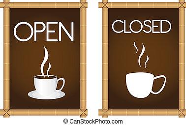 kawa, znaki