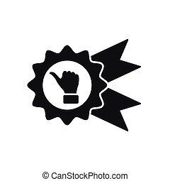 kciuk do góry, wektor, odznaka, ikona, icon.