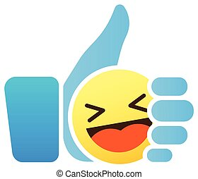 kciuk, podobny, smiley, do góry, ikona, emoticon, emoji