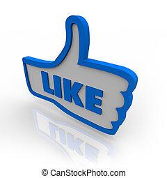 kciuk, podobny, symbol, do góry, rewizja, ikona