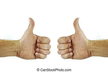 kciuki do góry, dwa
