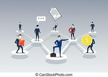 kierownictwo, grupa, handlowy zaludniają, towarzystwo, wykres, businesspeople, połączenie, pojęcie, teamwork, drużyna, organisation