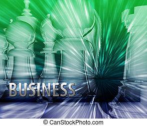 kierownictwo, handlowy, themed, abstrakcyjny, ilustracja, strategia, szachy