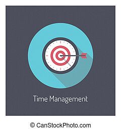 kierownictwo, pojęcie, ilustracja, czas