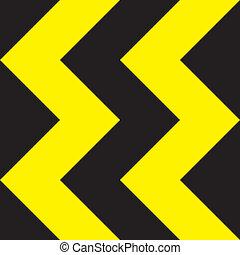 kierunek, żółty znak, czarnoskóry, x4, zmiana, ekstremum