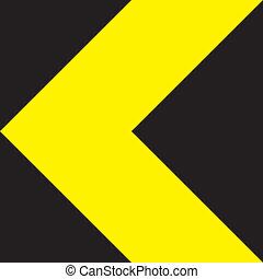 kierunek, żółty znak, czarnoskóry, zmiana, ekstremum