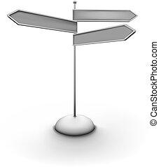 kierunek, arrowed, znak