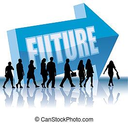 kierunek, przyszłość, -