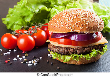 klaps, czarnoskóry, swojski, cheeseburger, surface.