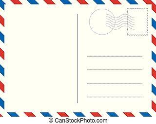 klasyk, designs., postcard., ilustracja, wektor, twój