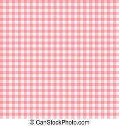 klatkowy, illustra, próbka, seamless, wektor, tło, tablecloth