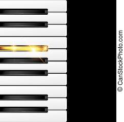 klawiatura, black-golden, tło