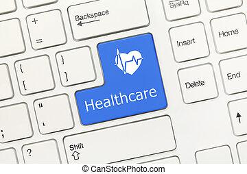klawiatura, -, key), healthcare, konceptualny, (blue, biały