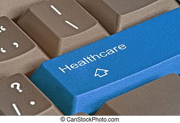 klawiatura, klucz, healthcare