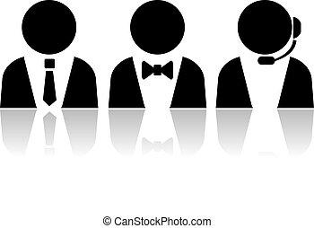 klient, osoby, służba