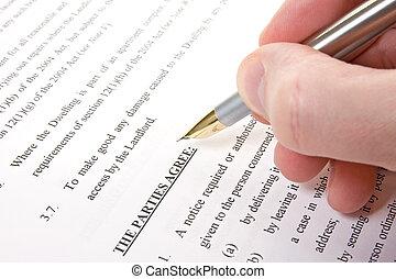 klient, przeczytajcie, porozumienie, znak