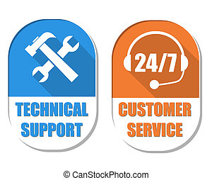 klient służba, techniczne poparcie, dwa, znak, 24/7, narzędzia