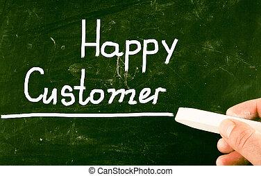 klient, szczęśliwy