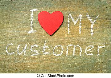 klient, tekst, miłość, mój